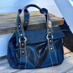 Kenneth Cole Reaction Leather Shoulder Bag
